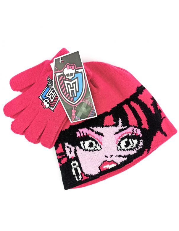 Conjunto Gorro y Guantes Monster High
